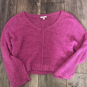 Pink knit beachy sweater